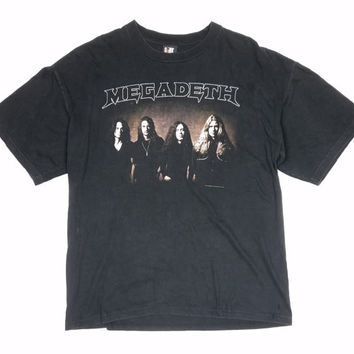 Vintage 1997 Megadeth Cryptic Writings Band T-Shirt size XL