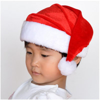 1pcs High-grade Christmas Hat Adult Christmas Party Cap Red Plush Hat For Santa Claus Costume Christmas Decoration gift AU382