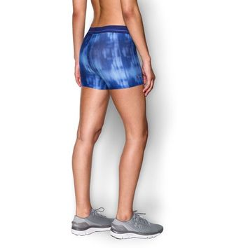 Under Armour® Women's HeatGear® Compression Armour Printed Shorty Short | Academy
