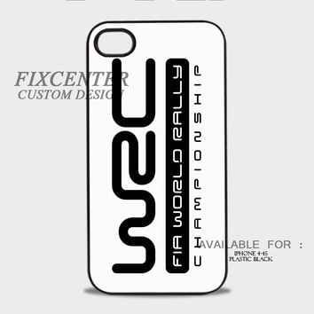 WRC World Rally Championship Logo White - iPhone 4/4S Case
