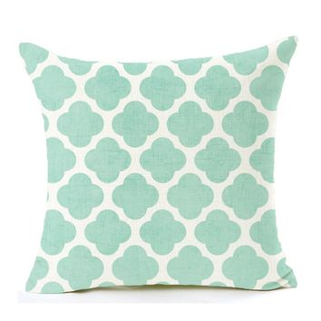 Geometric Watercolor Throw Pillow Cover