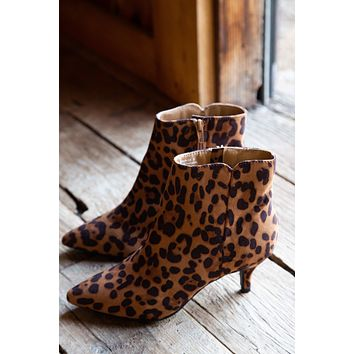Begonia Pointed Toe Bootie, Leopard