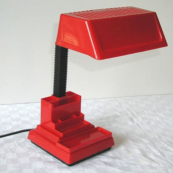 Mobilite RED Desk Lamp  Adjustable Vintage Reading Light