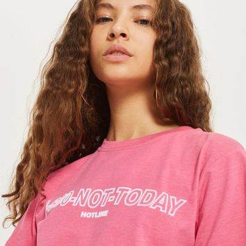 '1-800-Not Today Hotline' Slogan T-Shirt - T-Shirts - Clothing