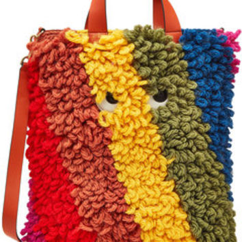 Shag Eyes Wool Tote - Anya Hindmarch | WOMEN | US STYLEBOP.COM