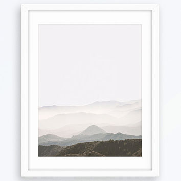 Mountains Printable Poster, Wall Art, Home Decor, Mountain Photography, Minimalist Print, Nature Print, Nature Poster, Landscape Poster, Art