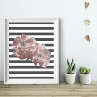 Flower Wall Art #2, Home Decor Ideas, Unframed