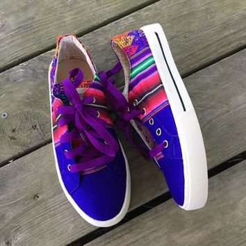 Serape kicks *Blue/Purple multi* from PeaceLove&Jewels