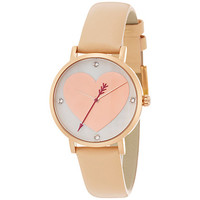 Buy kate spade new york 1YRU0699 Women's Novelty Metro Leather Strap Watch, Nude/Gold | John Lewis