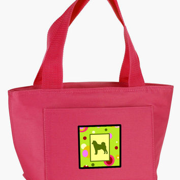 Lime Green Dots Shiba Inu Lunch Bag CK1149PK-8808