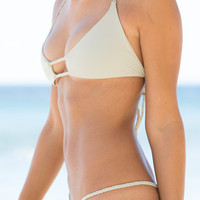 The Girl and The Water - Frankie's Bikinis 2014 - Oceanside Bikini Top Gray - $84