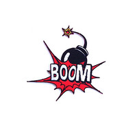 Boom Applique Iron on Patch