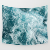 Sea Wall Tapestry by vivinicolin