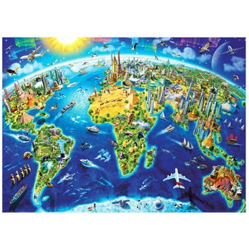 Decompression Puzzle Toys Adults Gift 3D Paper Puzzles 1000 Pieces DIY Landscape Decoration Puzzle