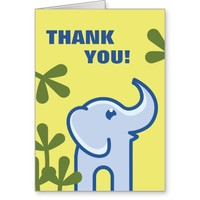 Elephant in the Jungle Thank You Card