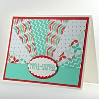 Handmade Birthday Card With Fun Star Bursts Of Colors, Reds, Blues