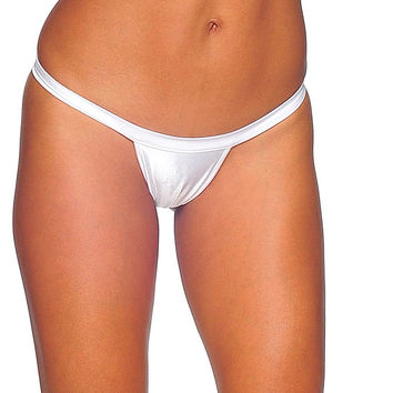 Pole Dancers White T Back Thong