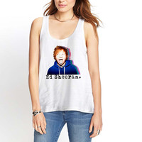 Ed Sheeran blue hoodie Womens Tank Top *