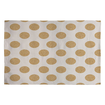 Allyson Johnson Gold Dots Woven Rug