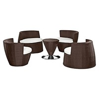 Luna 5-Piece Outdoor Dining Set by Lavita
