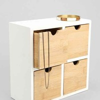 Bamboo Tabletop Organizer- White One