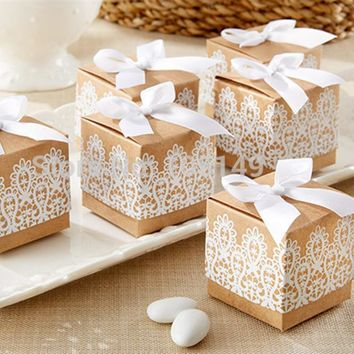 50pcs Sweet Lovely Decoration Candy Box Paper Bo Gift Rus