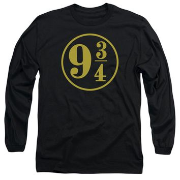 Harry Potter - 9 3 - 4 Long Sleeve Adult 18/1 Officially Licensed Shirt