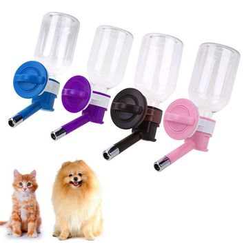 330 ml Dog Water Drinking Bottles Dispenser Food Dish Bowl Feeder For Dogs Automatic Travel Feeding Bowl