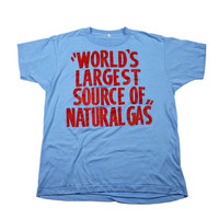 "Vintage 80s ""World's Largest Source of Natural Gas"" T-Shirt Made in USA Mens Size Medium"