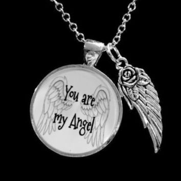 You Are My Angel Guardian Angel Wing Gift Wife Mother Friend Necklace