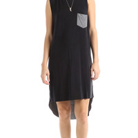 JERSEY CONTRAST CUPRO DRESS