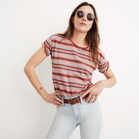 Whisper Cotton Crewneck Tee in Bonnie Stripe : shopmadewell short-sleeve tees | Madewell