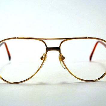 Vintage 70s Gold Tone Metal Aviator Frames/Glasses