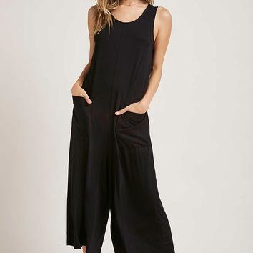 Patch-Pocket Culotte Jumpsuit