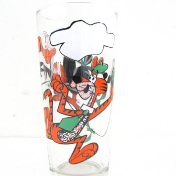 vintage Pepsi Series Collectors Cups / tall vintage glass. 1976 Cool Cat & Beaky Buzzard Pepsi Cup - Looney Tunes