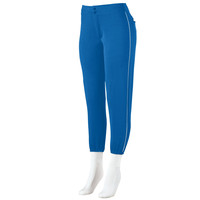 Augusta 822 Ladies Low Rise Softball Pant with Piping - Royal White
