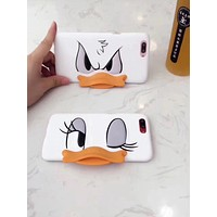 Donald Duck Creative Disney Donald Duck iphone6 mobile phone shell lover's personality iPhone 7/8plus protection suite IX.