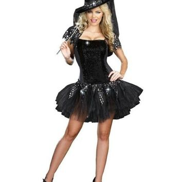 CREYUG3 Witch Cosplay Anime Cosplay Apparel Holloween Costume [9211523268]