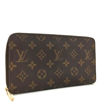 Authentic Louis Vuitton Monogram Zippy Zip Around Organizer Long Wallet / 3dAEI