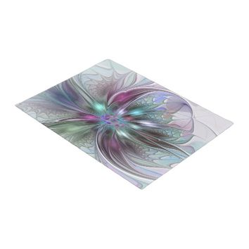 Colorful Fantasy, abstract and modern Fractal Art Doormat