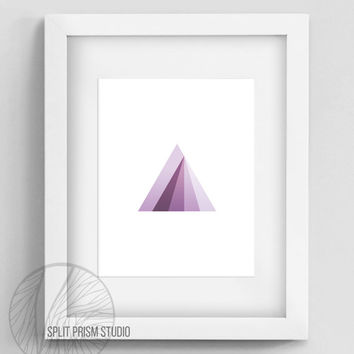 Original Art Print, Instant Download, Print, Art, Digital, Wall Art, Geometric Art, Graphic Print, Triangle, Purple Triangle Print, Prism