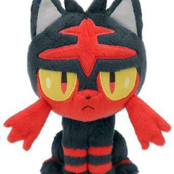 "Takaratomy Takara Tomy Pokemon Sun & Moon Litten 8"" Stuffed Plush Authentic USA"