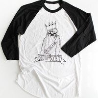 Sloth Society Baseball Tee