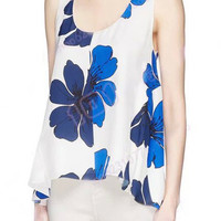 Floral Printed Sleeveless Tank Top