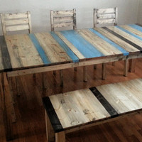 Rustic Dining Set / Distressed Dining Set