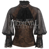Steampunk Victorian Blouse - RL-SP096 by Medieval Collectibles