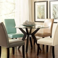 Celeste Dining Room Furniture, 5 Piece Set (Table and 4 Multi-Colored Parsons Chairs) - Dining Room Furniture - furniture - Macy's