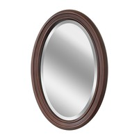 Wood Oval Wall Mirror (1044) - Illuminada