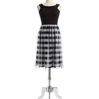 Gingham Fit And Flare Dress | Lord and Taylor