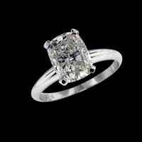 0.75 CT. radiant cut H SI1 Solitaire diamond anniversary ring